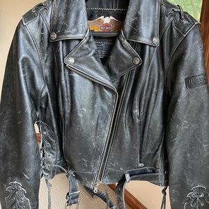 🎉HP🎉 Corral Distressed Harley Leather Jacket